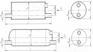 Воздухосборник проточный горизонтальный А1И 017.000-02 (А1И 010.000-02)
